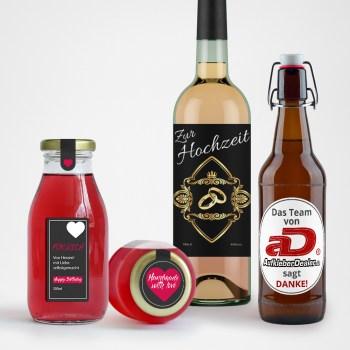 Aufkleber für Flaschen und Gläser