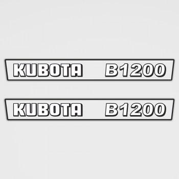 Kubota B1200 Aufkleber Set