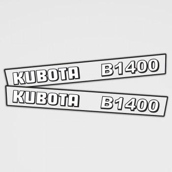 Kubota B1400 Aufkleber Set