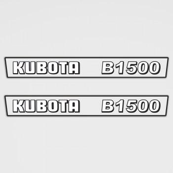 Kubota B1500 Aufkleber Set