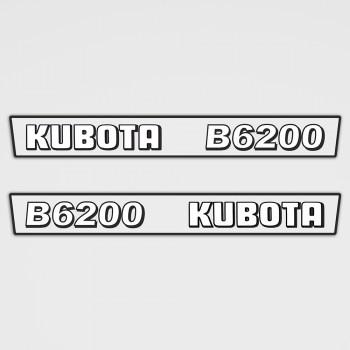 Kubota B6200 Aufkleber Set
