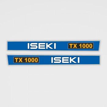 ISEKI TX 1000 Aufkleber