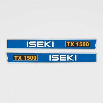 ISEKI TX 1500 Aufkleber
