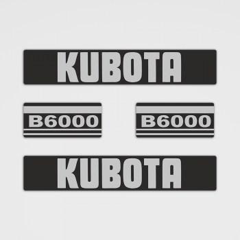 Kubota B6000 Aufkleber Set