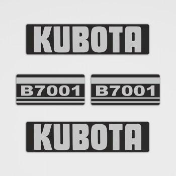 Kubota B7001 Aufkleber Set