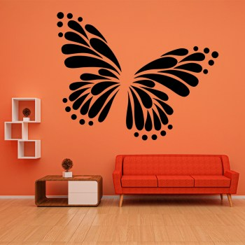 Wandtattoo Schmetterling Silhouette
