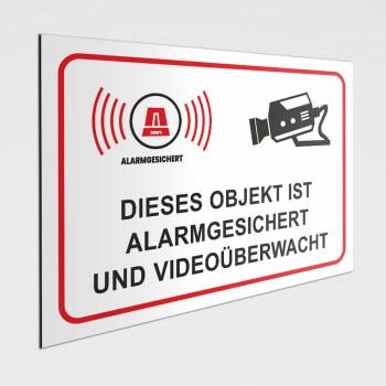 Videoüberwacht als Aufkleber oder Schild