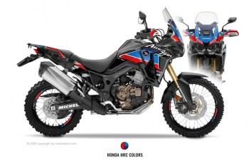 RUBBERDUST - Honda Africa Twin CRF1000L - SPORT - Dekorset - Black