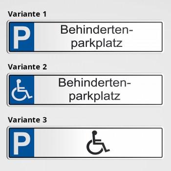 Behinderten-Parkplatz als Schild oder Aufkleber