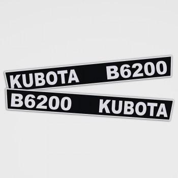 Kubota B 6200 Aufkleber Set