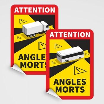 Toter Winkel Magnetschild Frankreich - Magnetfolie für LKW und Busse