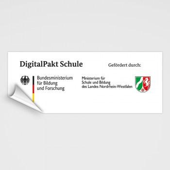 Digitalpakt Schule Aufkleber