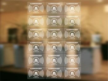 transparente Alarmanlagen Aufkleber - alarmgesichert
