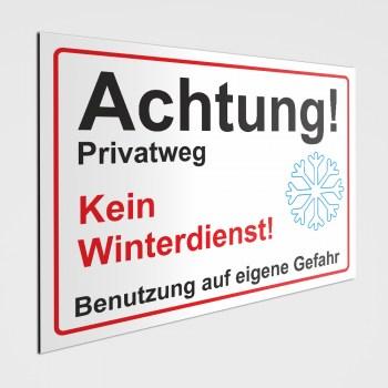 Privatweg kein Winterdienst