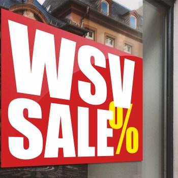 WSV Aufkleber - Winterschlussverkauf als Aufkleber oder Adhäsionsfolie