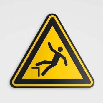 Gefahrenhinweis Schild, Warnzeichen - Absturzgefahr