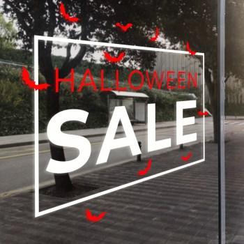 Schaufensterdekor Halloween Sale