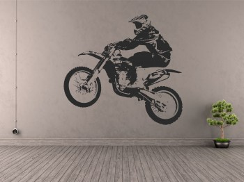 Motocross Aufkleber Wandaufkleber Tattoo