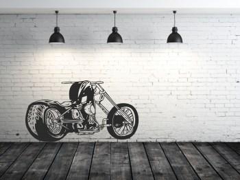 chopper bike Aufkleber Wandaufkleber Tattoo
