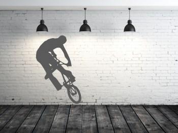 BMX biker Aufkleber Wandaufkleber Tattoo