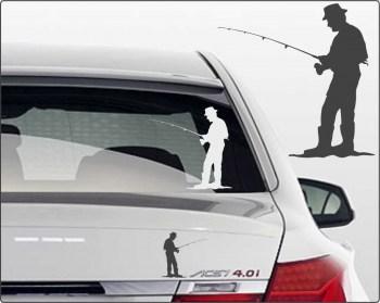 Autoaufkleber Angler