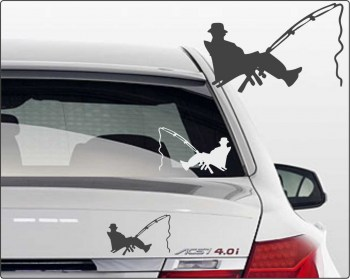 Autoaufkleber Angler Angelsport