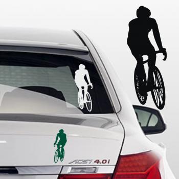 Rennrad Aufkleber fürs Auto