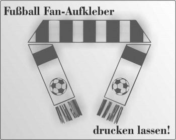 Fußball FAN Aufkleber drucken lassen