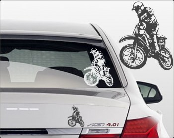 Motocross Autoaufkleber