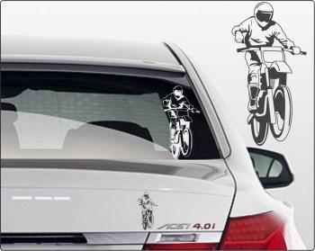 motocross Aufkleber Auto