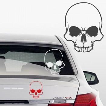 Autoaufkleber Biker skull Totenkopf
