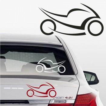 Biker Sticker fürs Auto