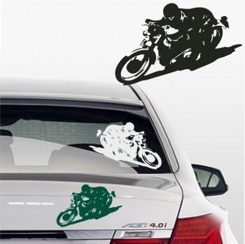 Sticker Motorradfahrer