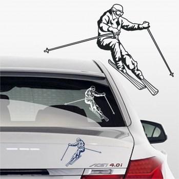 Aufkleber Ski Fahrer