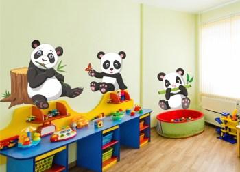 Wandtattoo Pandabär Pandabären