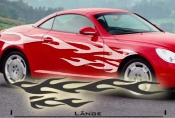 Fahrzeugaufkleber NFS Flamme 1.11 (als Paar geliefert)