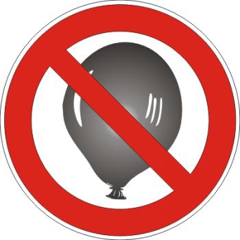 Luftballon Verbot Aufkleber
