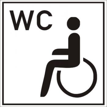 Behinderten-WC Aufkleber !!!