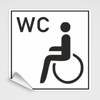 Behinderten-WC Aufkleber