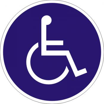 WC-Behinderten (rund) Aufkleber