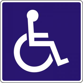 Behinderten WC Aufkleber