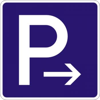 Parkplatz Aufkleber rechts