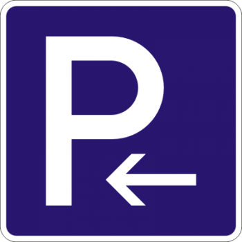 Parkplatz Aufkleber links !!!