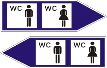 WC Aufkleber Rechts-Links Set !!!