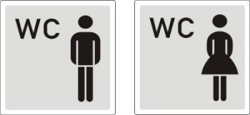 Damen & Herren WC - Aufkleber !!!