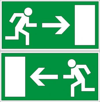 Notausgang (links oder rechts) - Aufkleber !!!