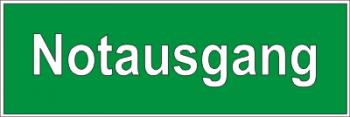 Notausgang (schriftlich) - Aufkleber !!!