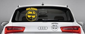 lustige und witzige Autoaufkleber