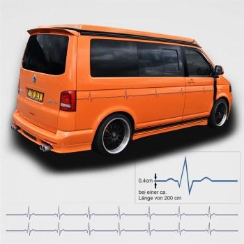Autoaufkleberset EKG-Linie (als Paar geliefert)