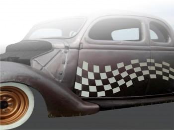 Autoaufkleber Single Flag 1 einfarbig,  als Paar geliefert , für die Fahrer- und Beifahrerseite